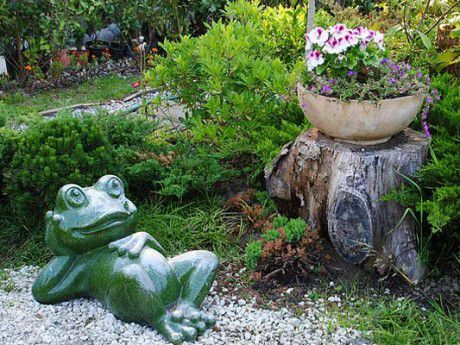сад домашний мастеркласс уют скульптура садовая украшаем гипс