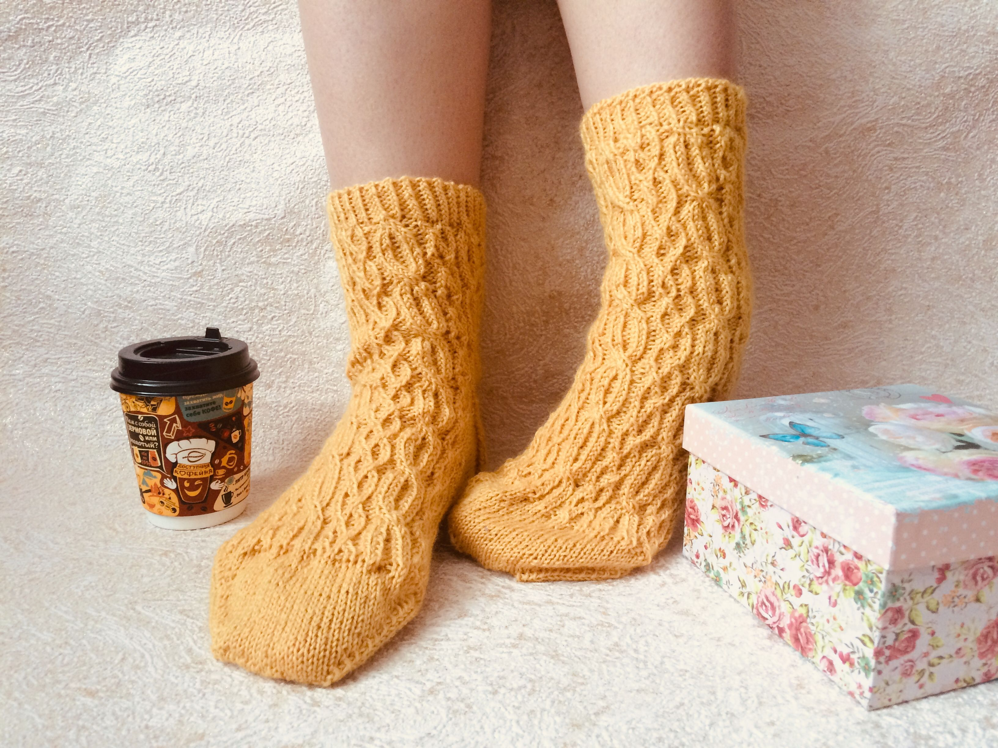 вязание подарки носки