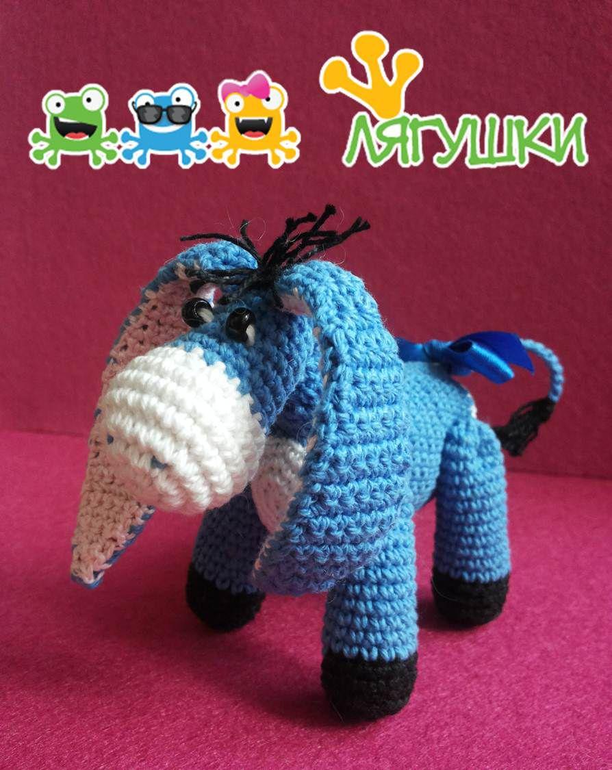 gift softtoy russianeeyore donkey осликиа детям мягкаяигрушка forkids другвиннипуха хвостнашёлся маленькийослик трилягушки подарок stuffedtoy crochet вязаниекрючком