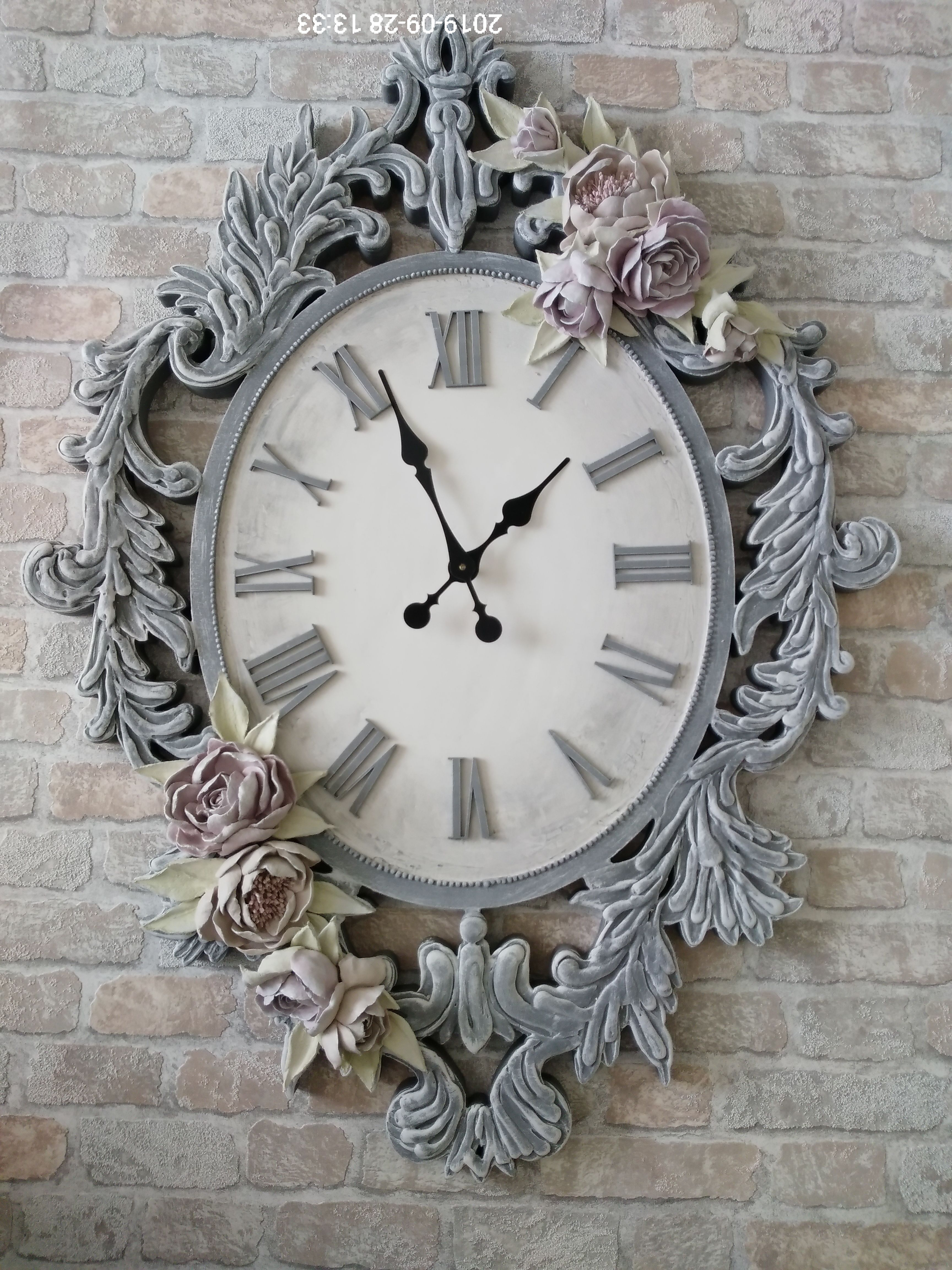 подарок работа ручная интерьер дизайн часы гостинная шеббишик