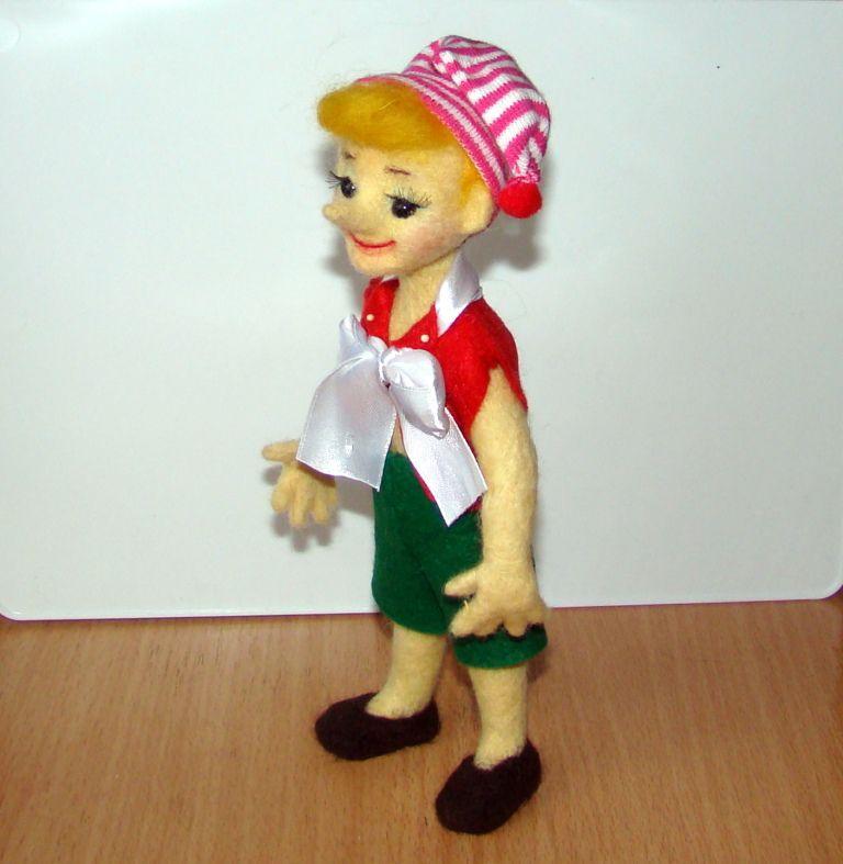 игрушка случай на золотой ключик валяный мальвина буратино сказка валяная подарок любой