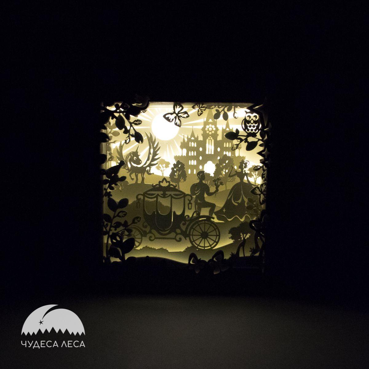подарок интерьер ночник светильник деревянный дерево королевство