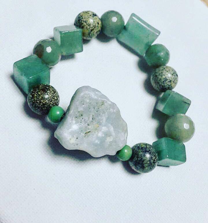 натуральные handmade камни браслеты нефрит