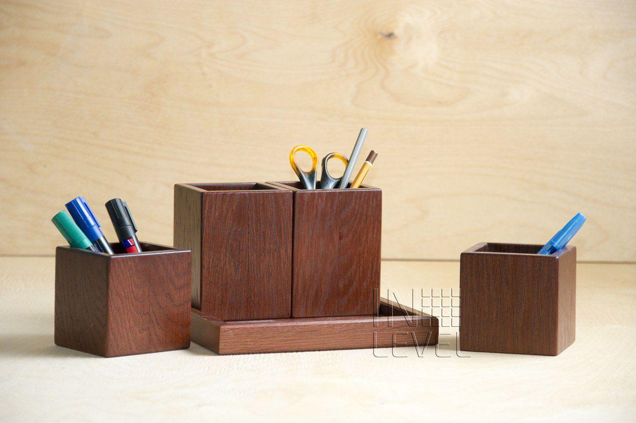 офис красное_дерево канцелярия деревянная органайзер деревянный дерево дуб офисный