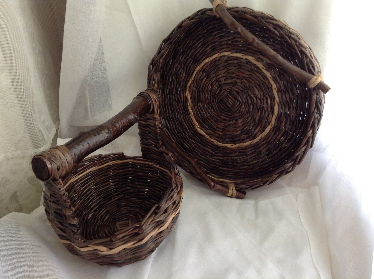 подарок работа декор ручная поднос для интерьере плетеный плетенки набор корзинка кухни в оригинальный