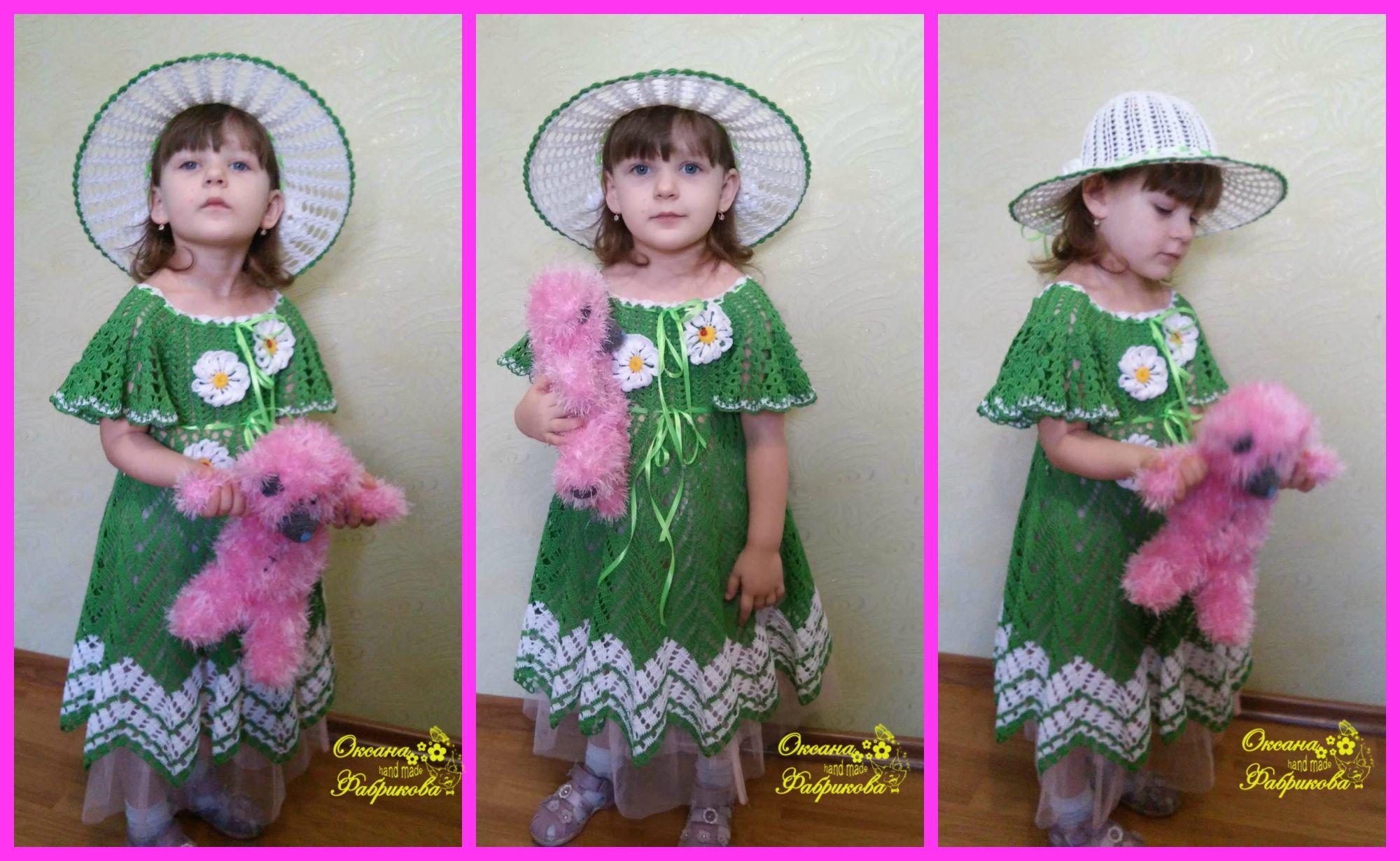 летняя детское вязание заказ на девочки хлопок100 шляпа детскеое для летнее шляпка платье детям вяжу ажурное крючком