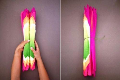 Цветы из гофрированной бумаги своими руками 9