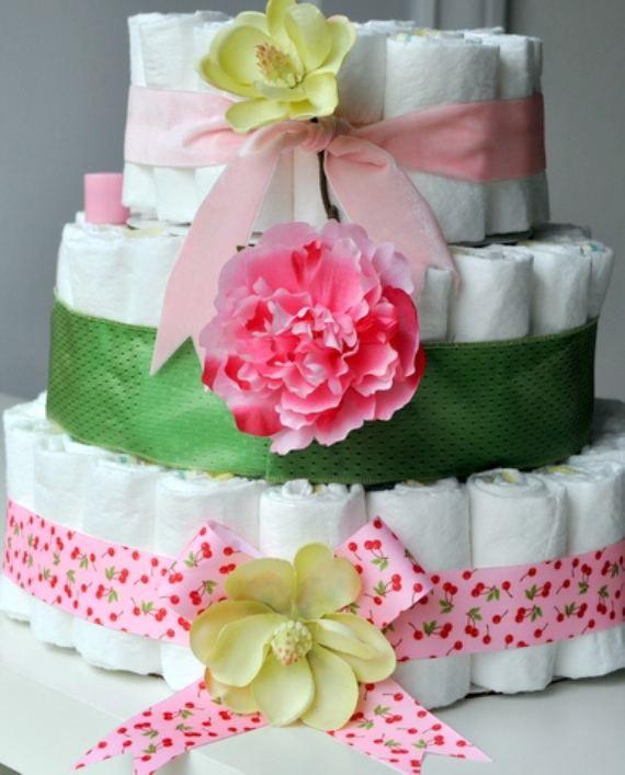 Торт из памперсов своими руками 14