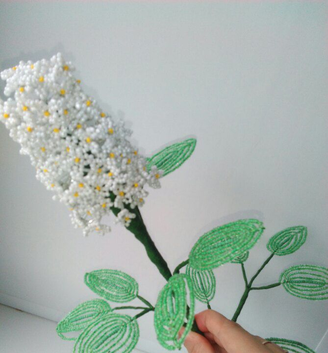 избисера ваза ветка сирень подарок цветы