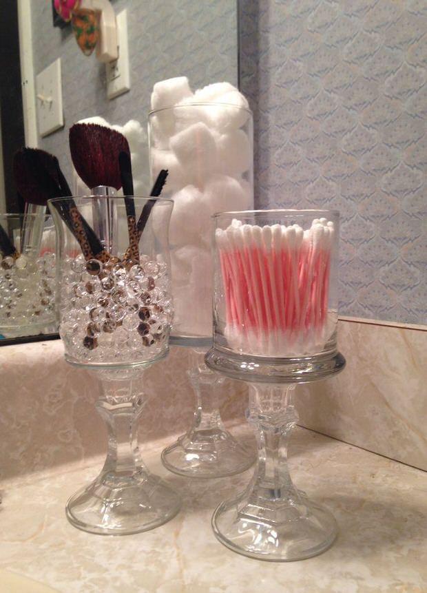 декор для руками косметических кистей стакан своими
