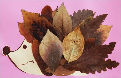 из аппликации листьев осенние