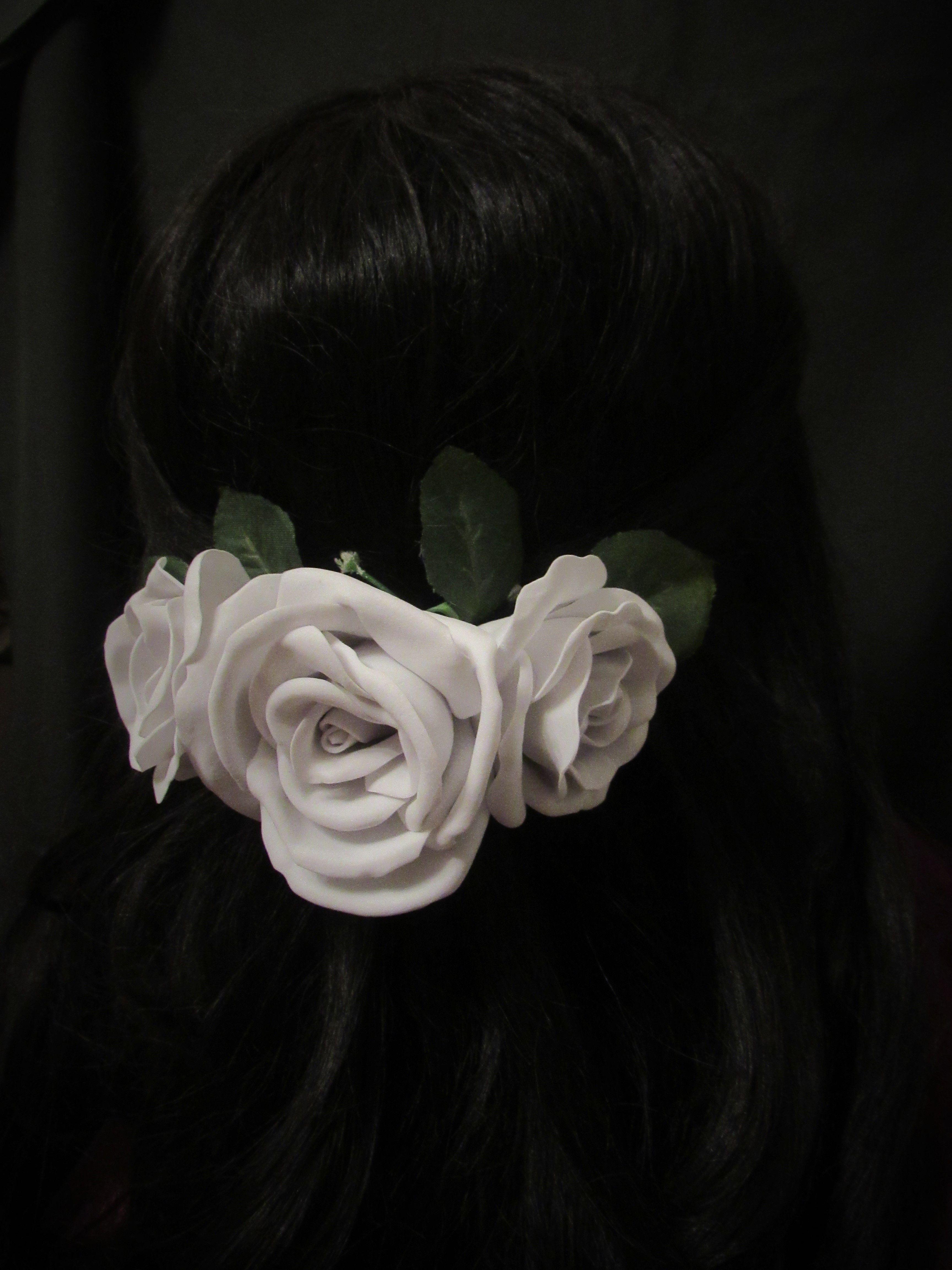 из фоамирана заколка фоамиран розы цветы
