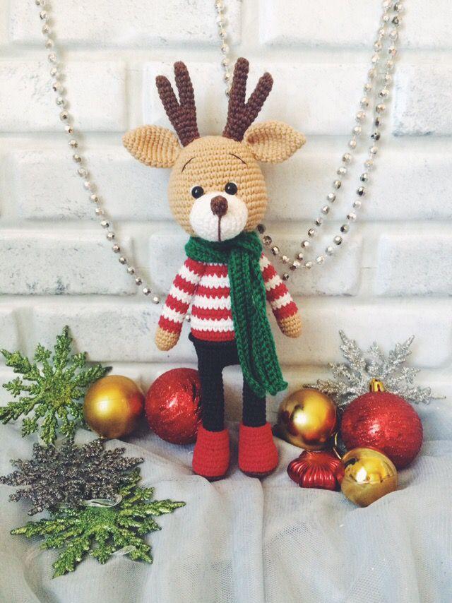 крючком новый год амигуруми крючок вязание