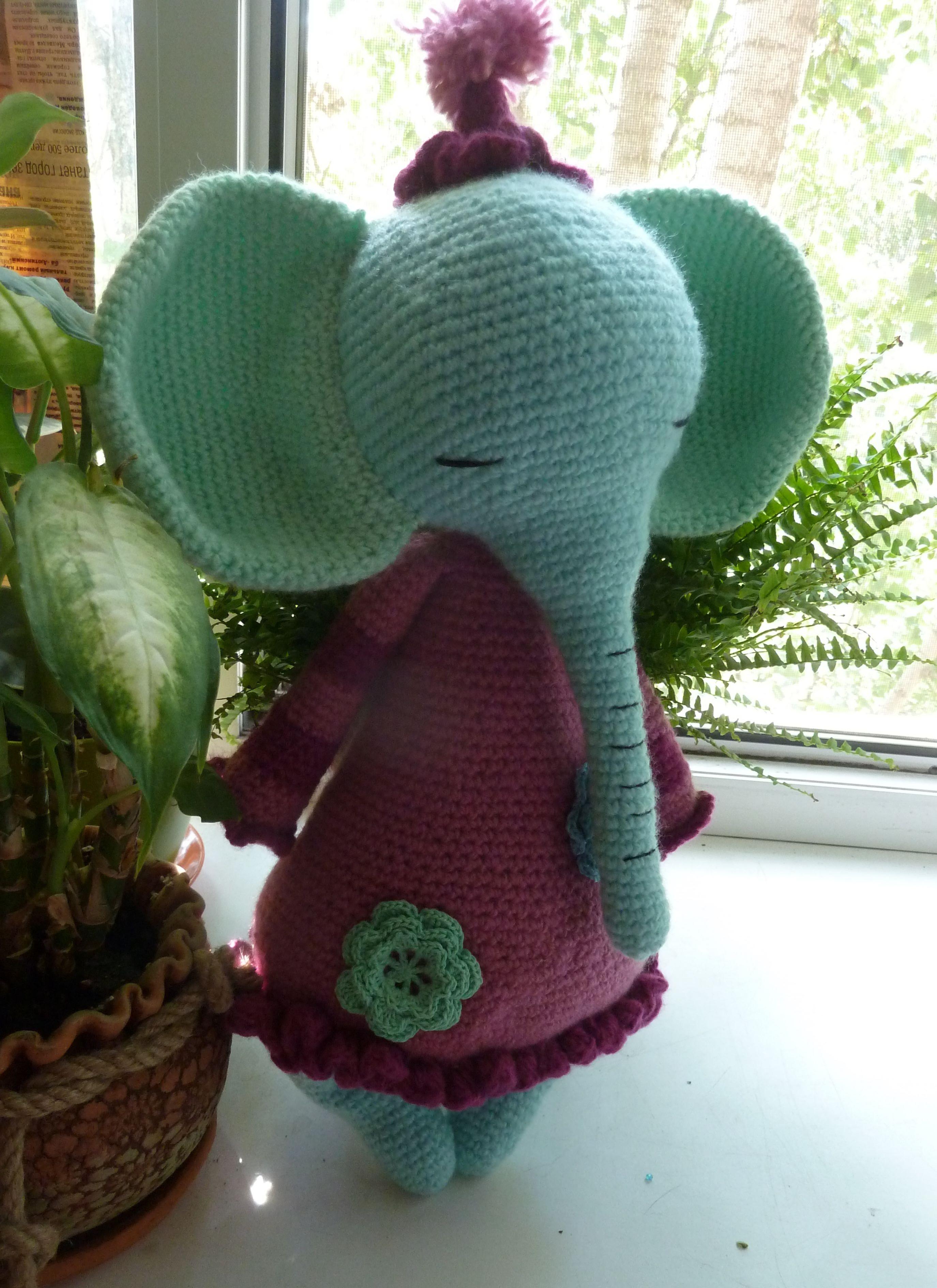 игрушки дети слоник вязание животные