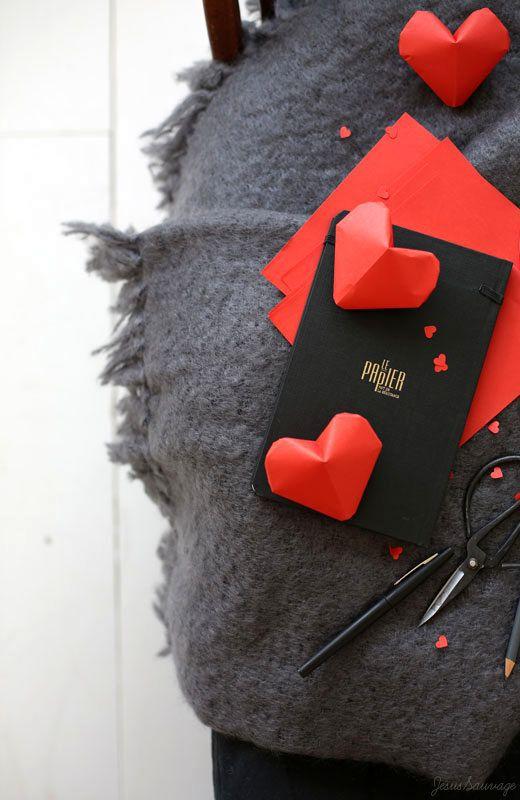 Сердечки из бумаги 7