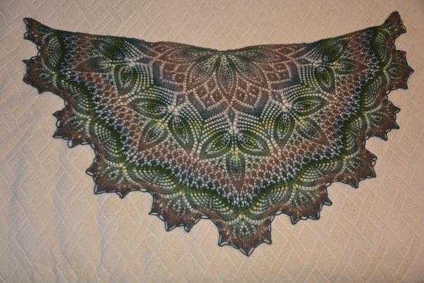 вязание шальспицами мирвязаныхмыслей дундага шерсть шаль