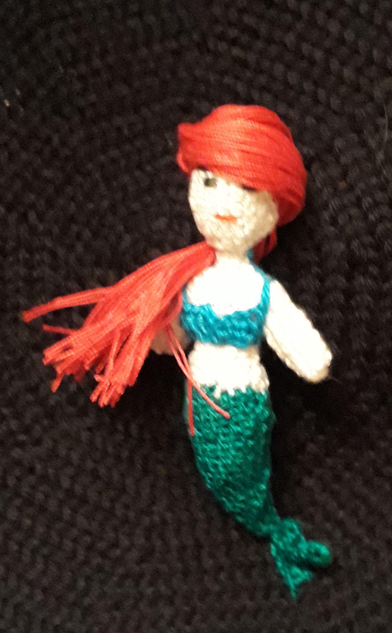 игрушка пупс невеста русалочка балерина крючком