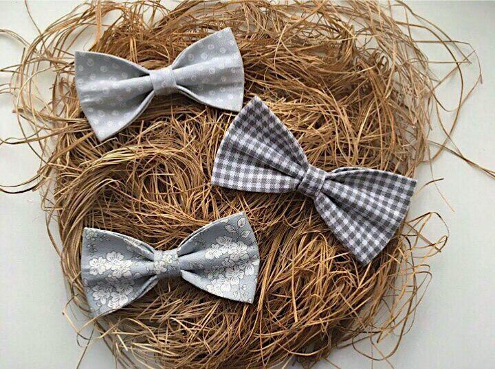 бабочка галстук сатин
