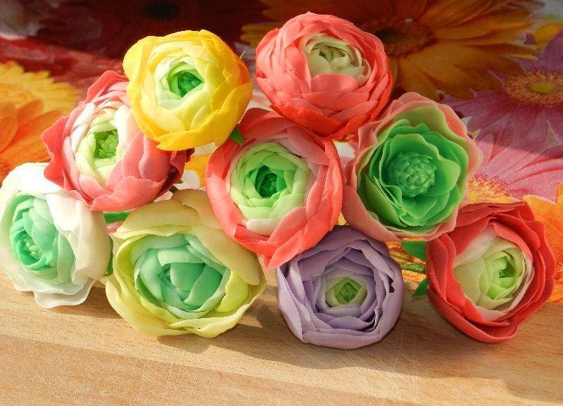 цветы полимернаяглина керамика мастеркласс