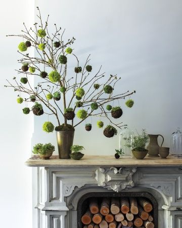 дерево для помпонами идеи с декордетирукамидляпраздниксвоимидомаидеисамсделай домапомпоны