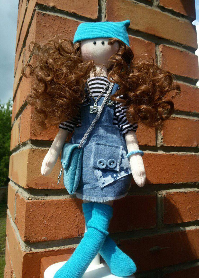 ручнаяработа игрушка кукла девочка интерьер хендмейд модница кудряшка подарок