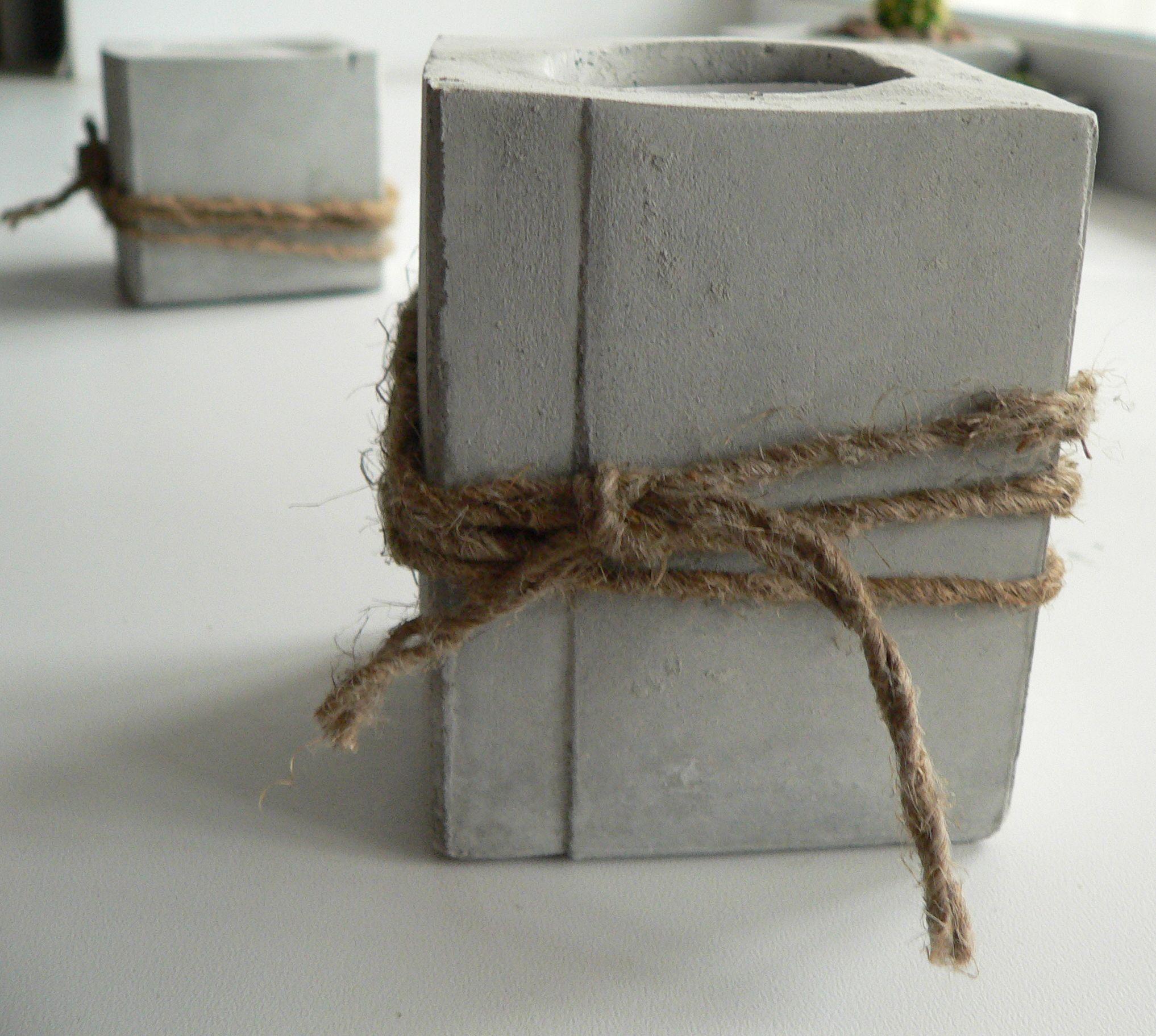 изделия подарки подсвечники бетон