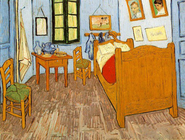 кровать вангог значокиздерева значок деревяннаяброшь брошка