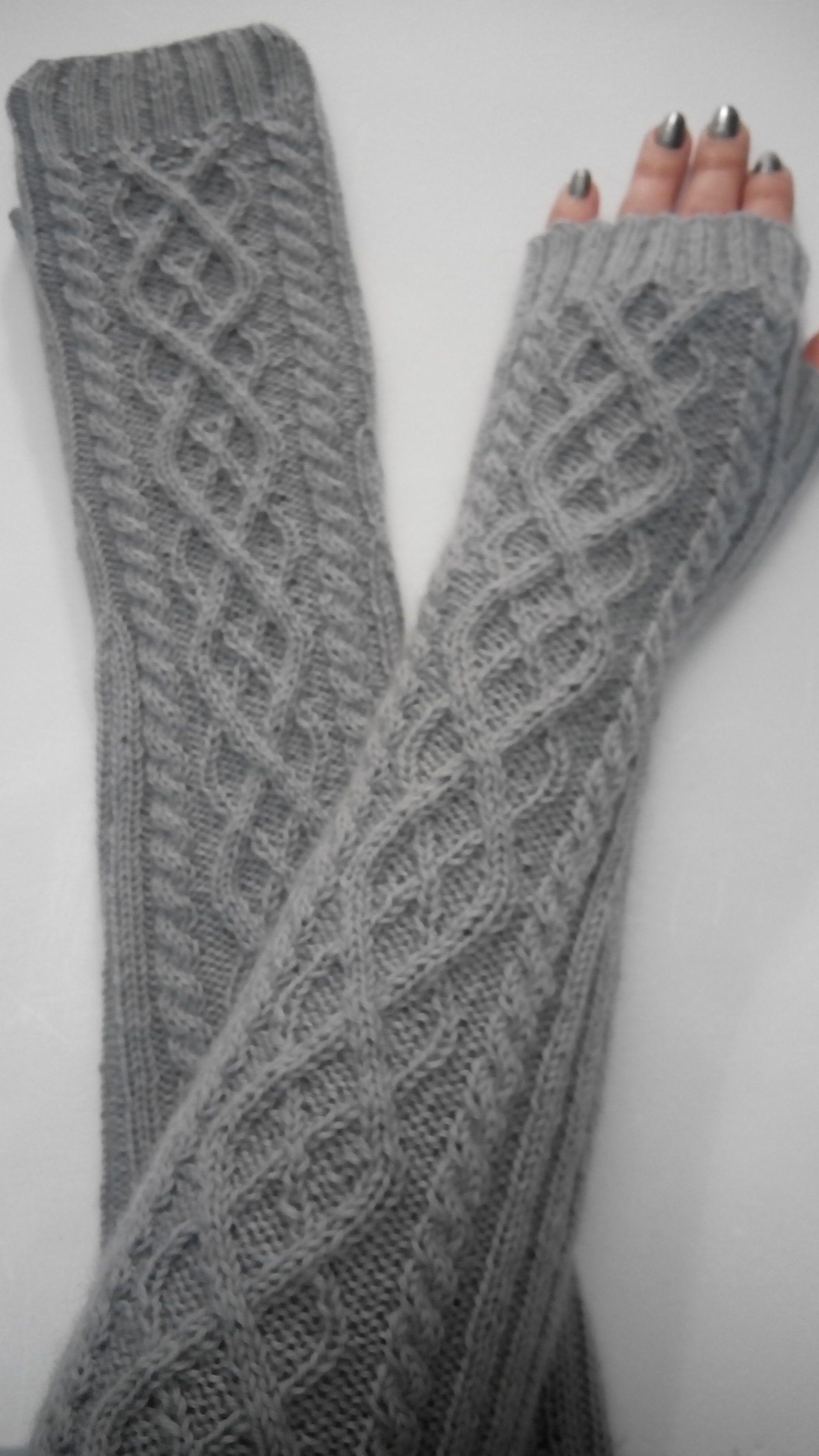 рукава спицами митенки вязание