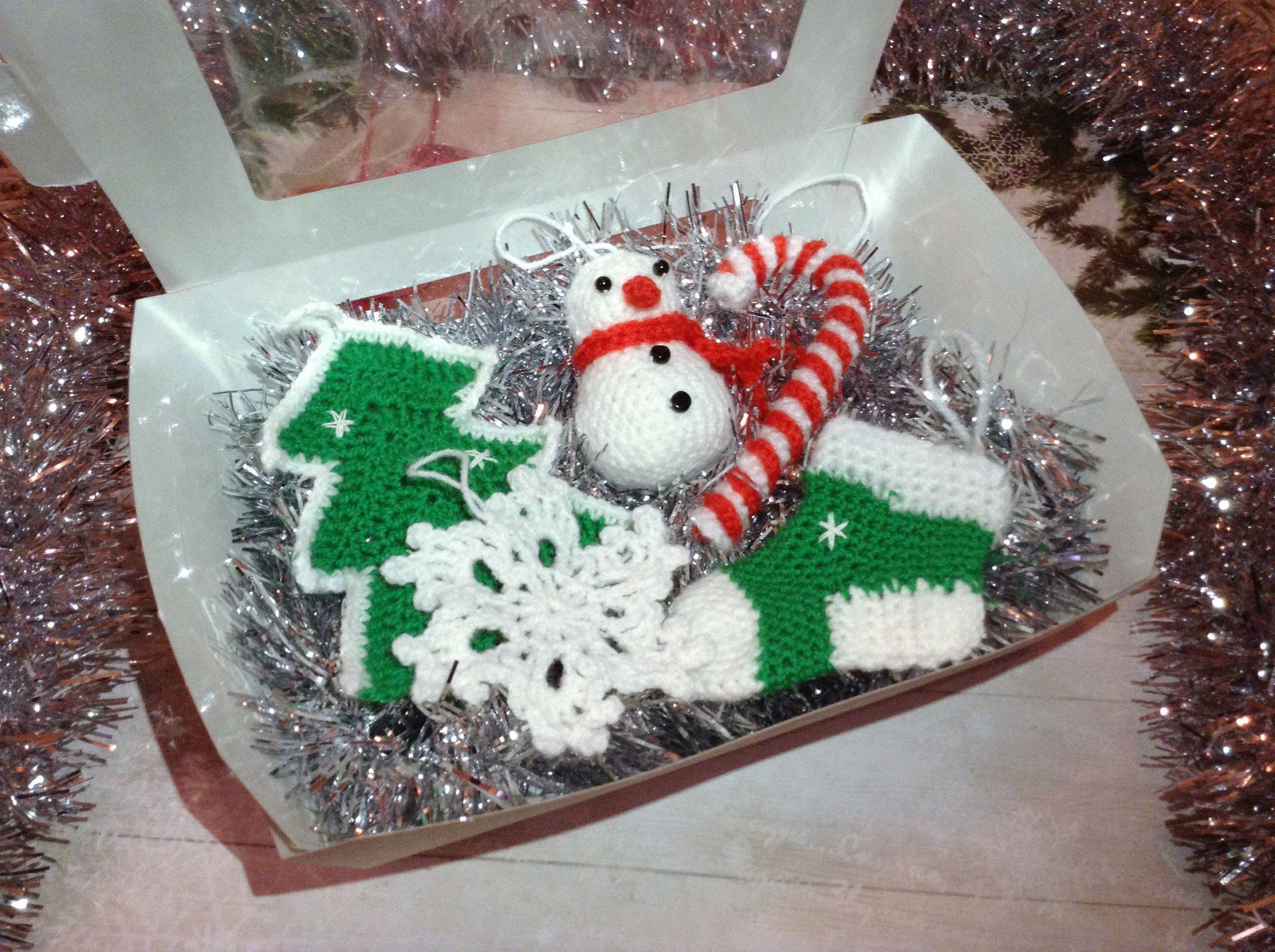 леденец носочек игрушки снежинка вязаное снеговик крючком ёлка новыйгод