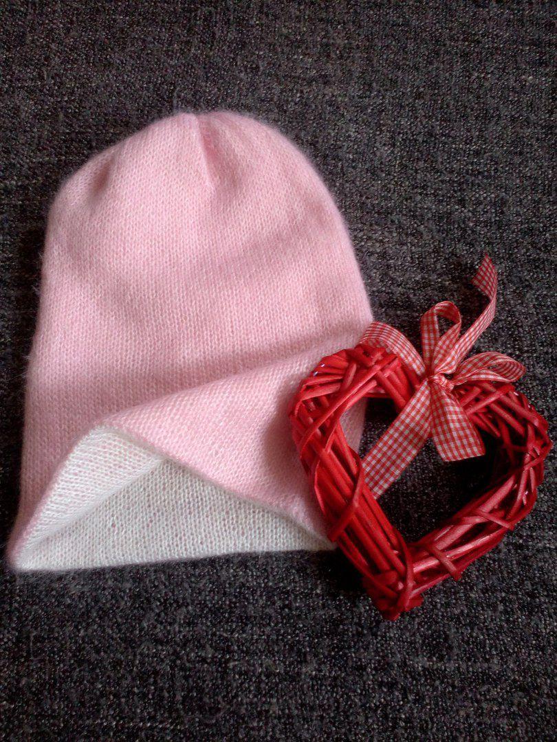 вязание шапка мохер
