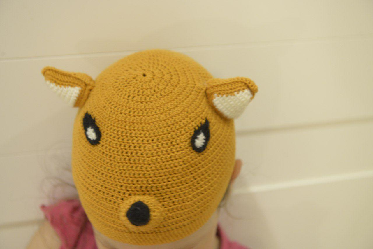 вязание_для_детей ручная_работа лисичка детская_шапка шапка_лиса вязание лиса