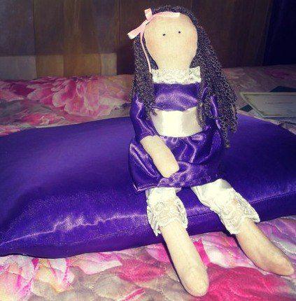 ручнаяработа бантик подарок кукла пантолоны платье