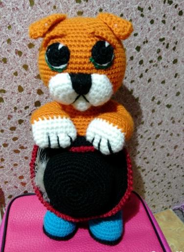 ручнаяработа игрушка дети вязание заказ хендмейд кот крючком