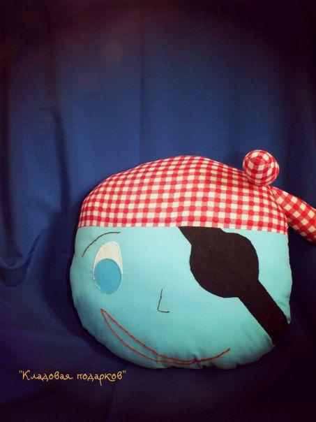 подушкаигрушка пират мягкийдруг милота подушка ручнаяработа подарок