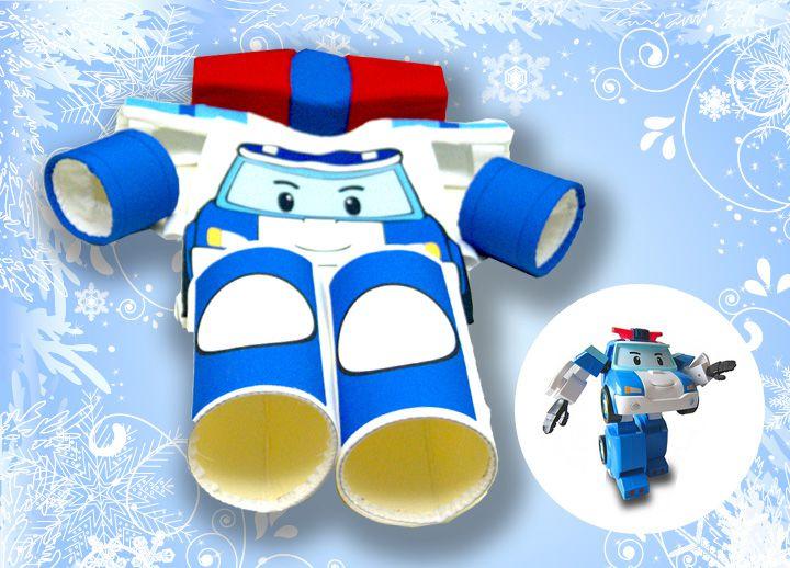 одежда купить синий робот трансформер робокар голубой детям аксессуары праздник ручная работа новый год комплекты новогодние поли машинка продажа костюмы костюм детская
