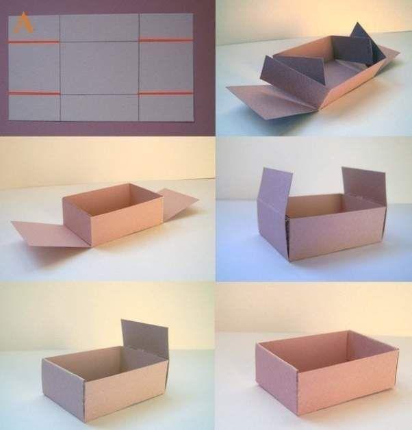 Как из картона сделать подарочную коробку из картона