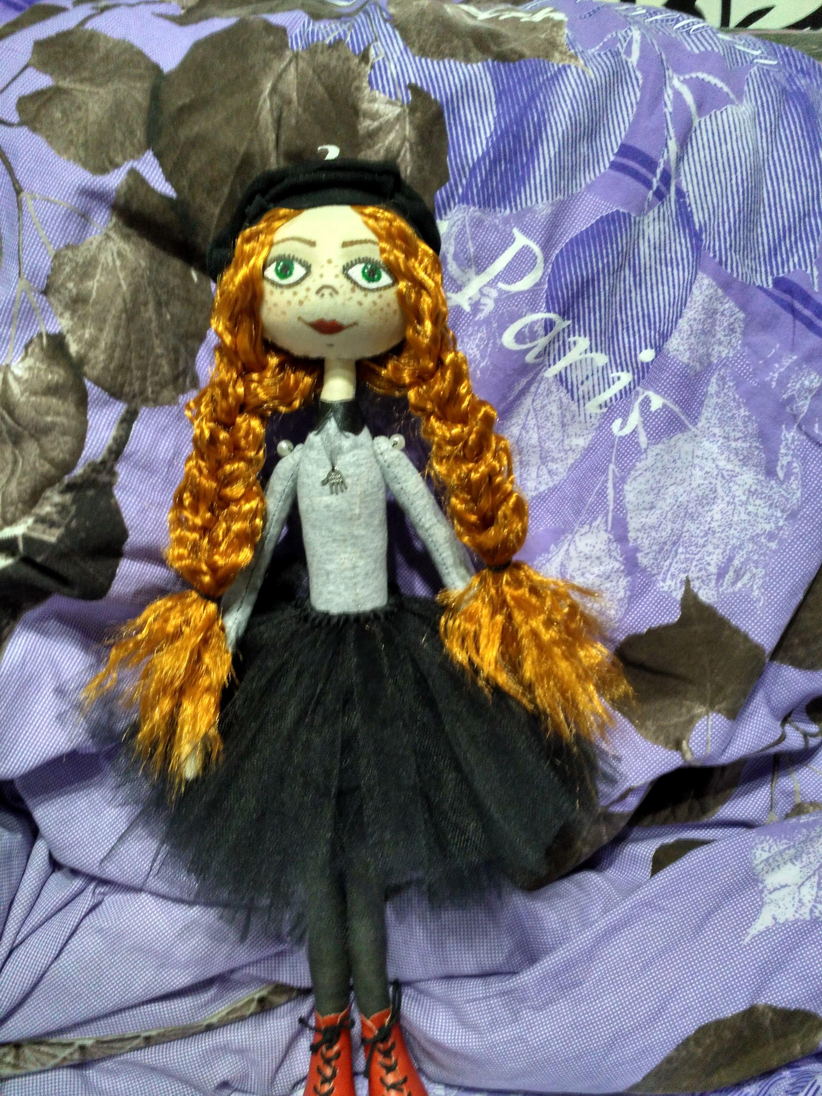 интерьерная тыквоголовка своими руками кукла