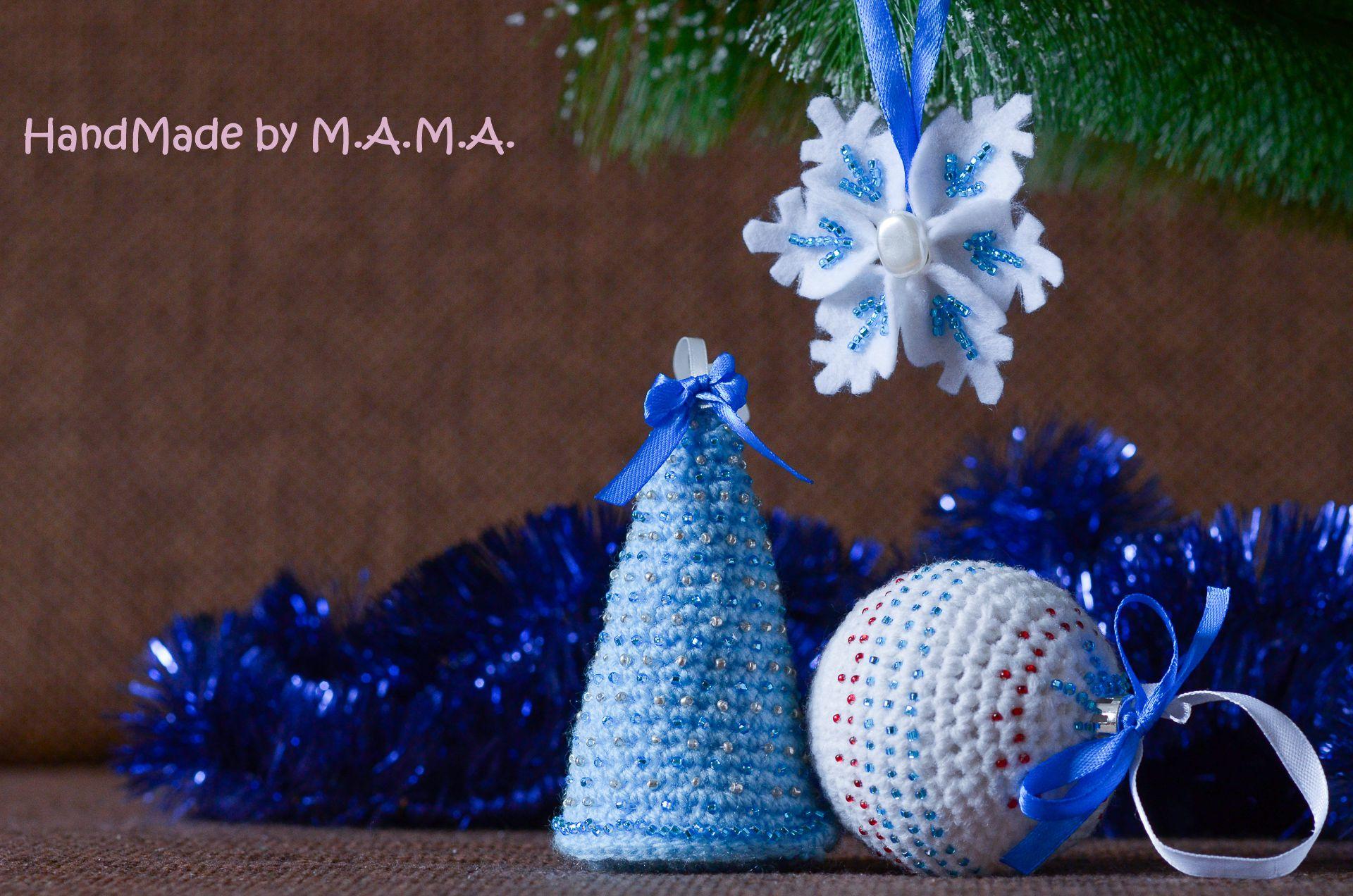 игрушки амигуруми ёлочные новогоднее 2016