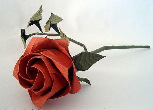 бумаги из руками цветы своими