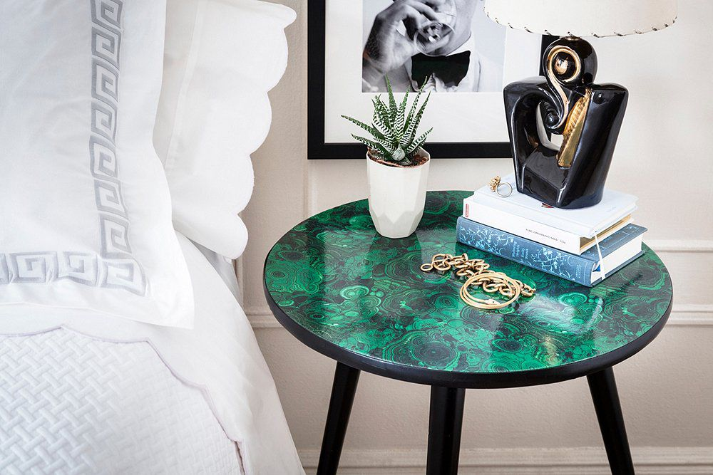 идеи своими малахитовым покрытием декор журнальный дома стол для столик руками сделай сам