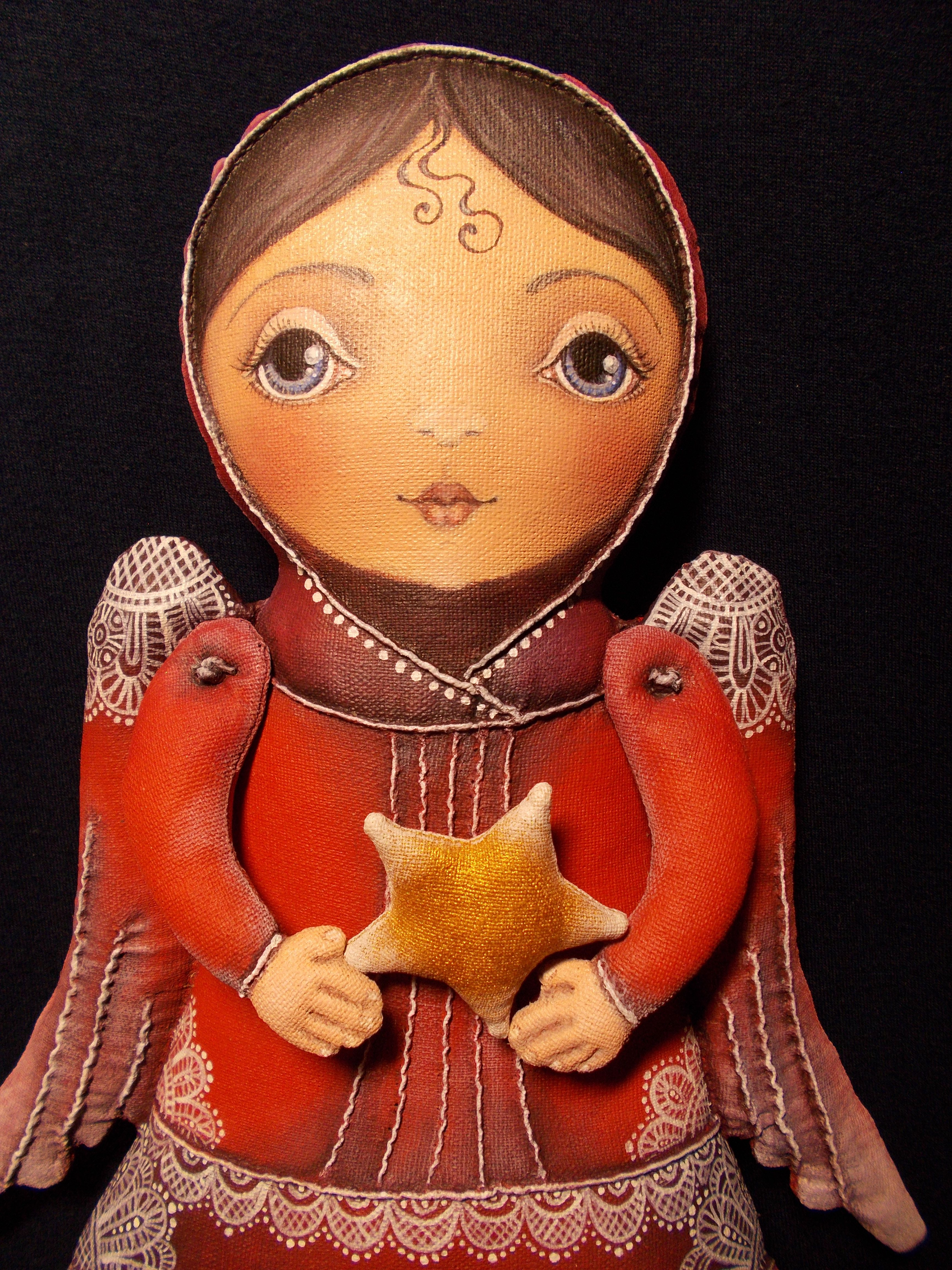 handmade ангел сувенир бязь акрил ручнаяработа подарок