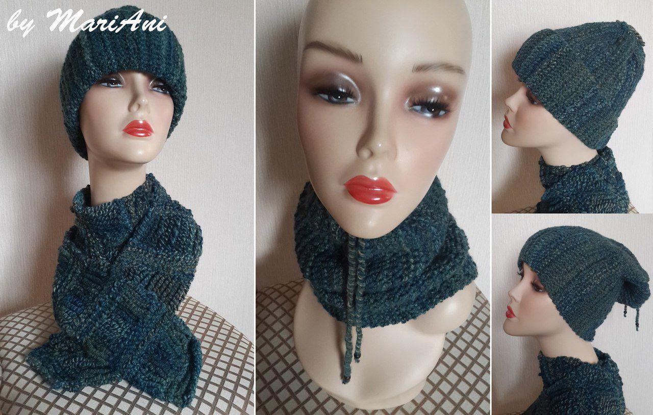 шарф работа шапка ручная вязание снуд