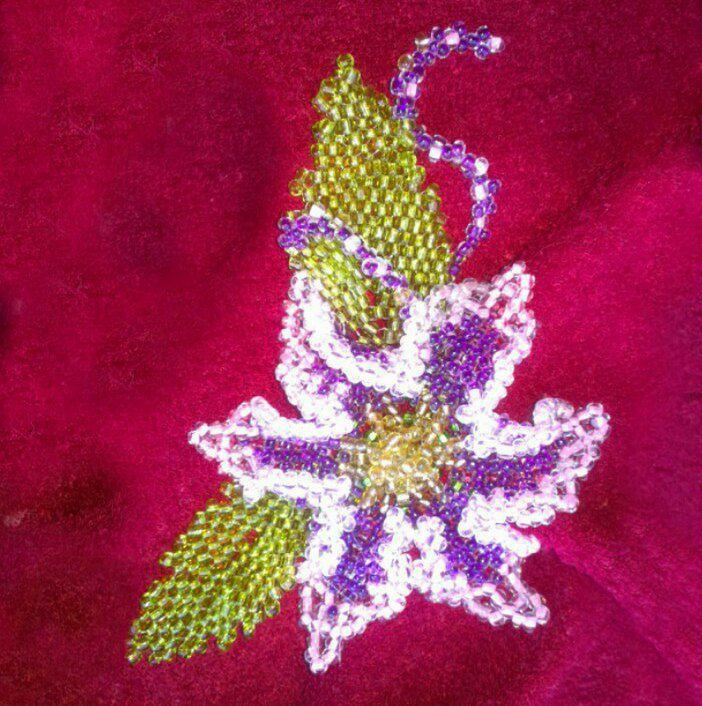 цветок бижутерия ручная работа украшение бисер броши