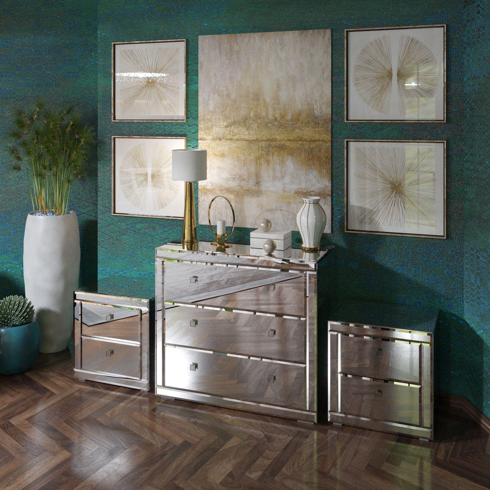 спальни зеркальный для décor отражение зеркал зеркальная необычная мебель комод дизайнерская тумба