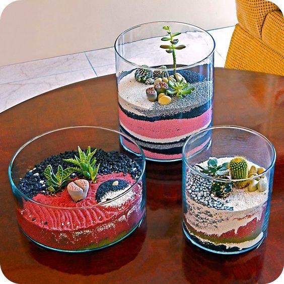 искусственных цветная дома соль суккулентов композиции декор для поделки идеи с сделай сам