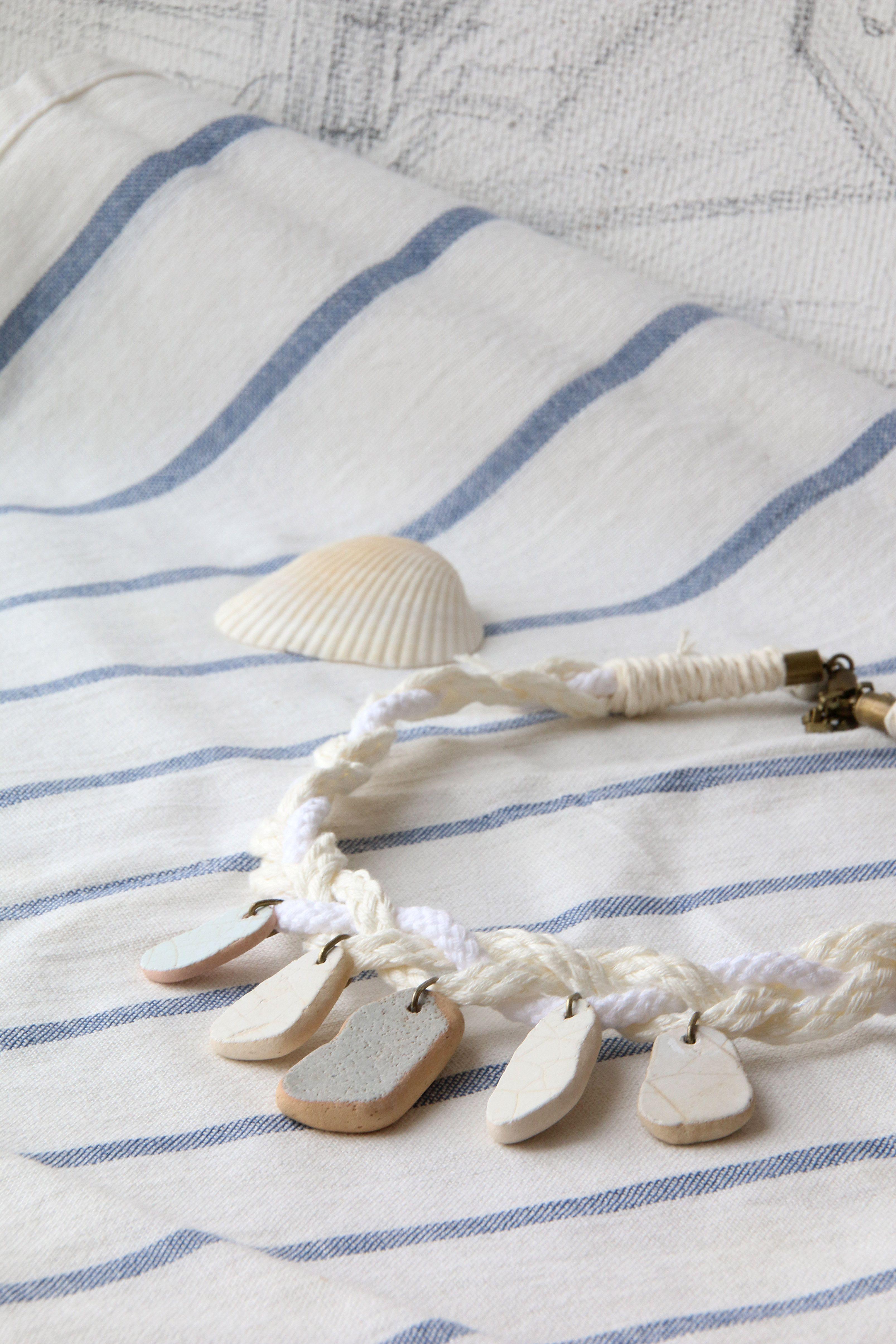 бохо морской коье песочный голубой белый натуральные