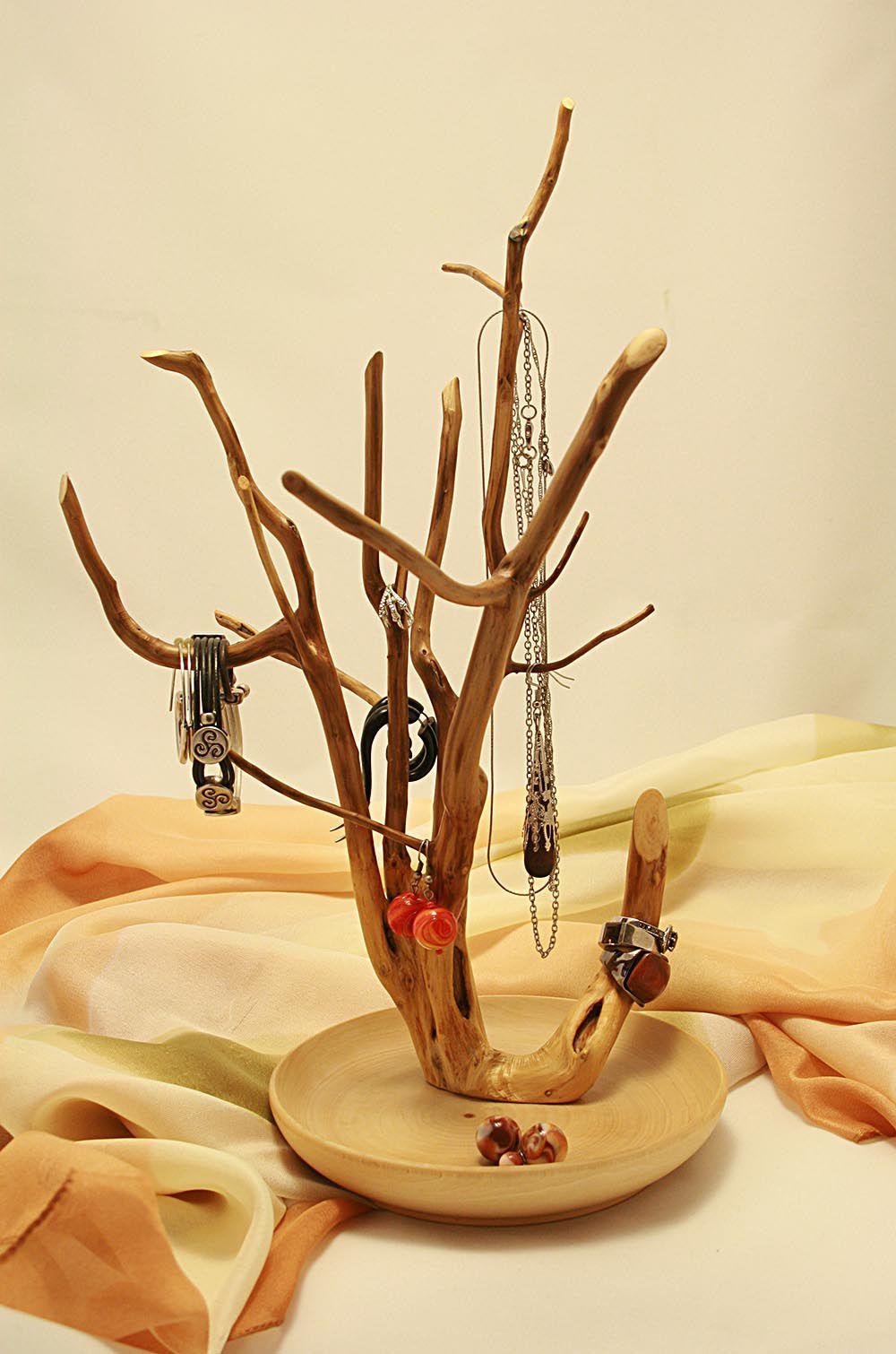 подставка декоративный ручная аксессуары кольца для украшений бижутерия дерево сережки натуральные работа оригинальный материалы подарок