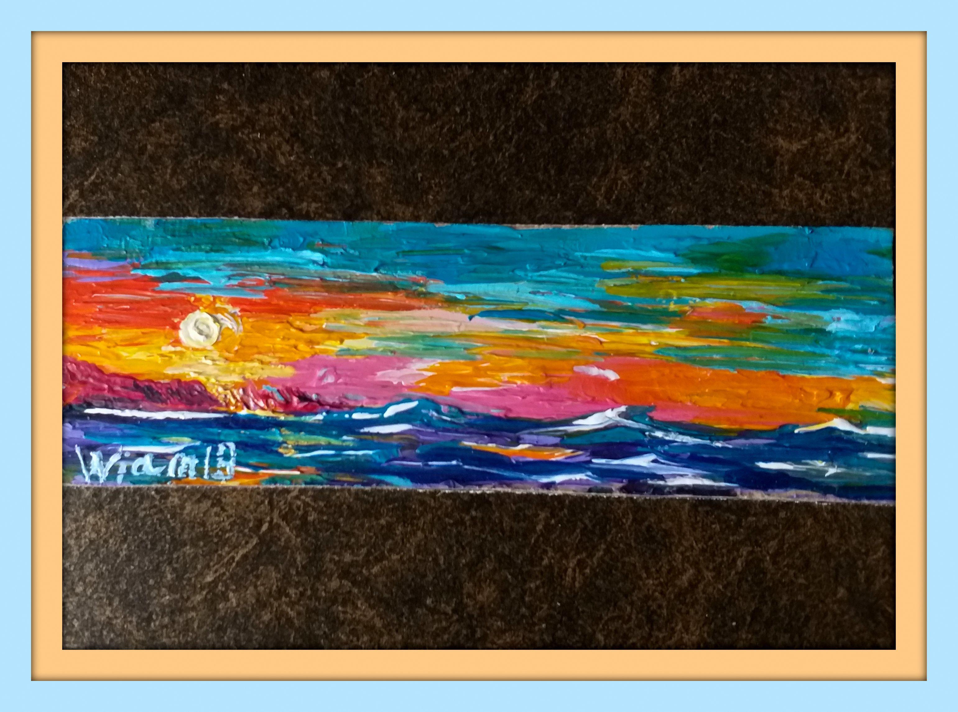 море картина вода акрил живопись