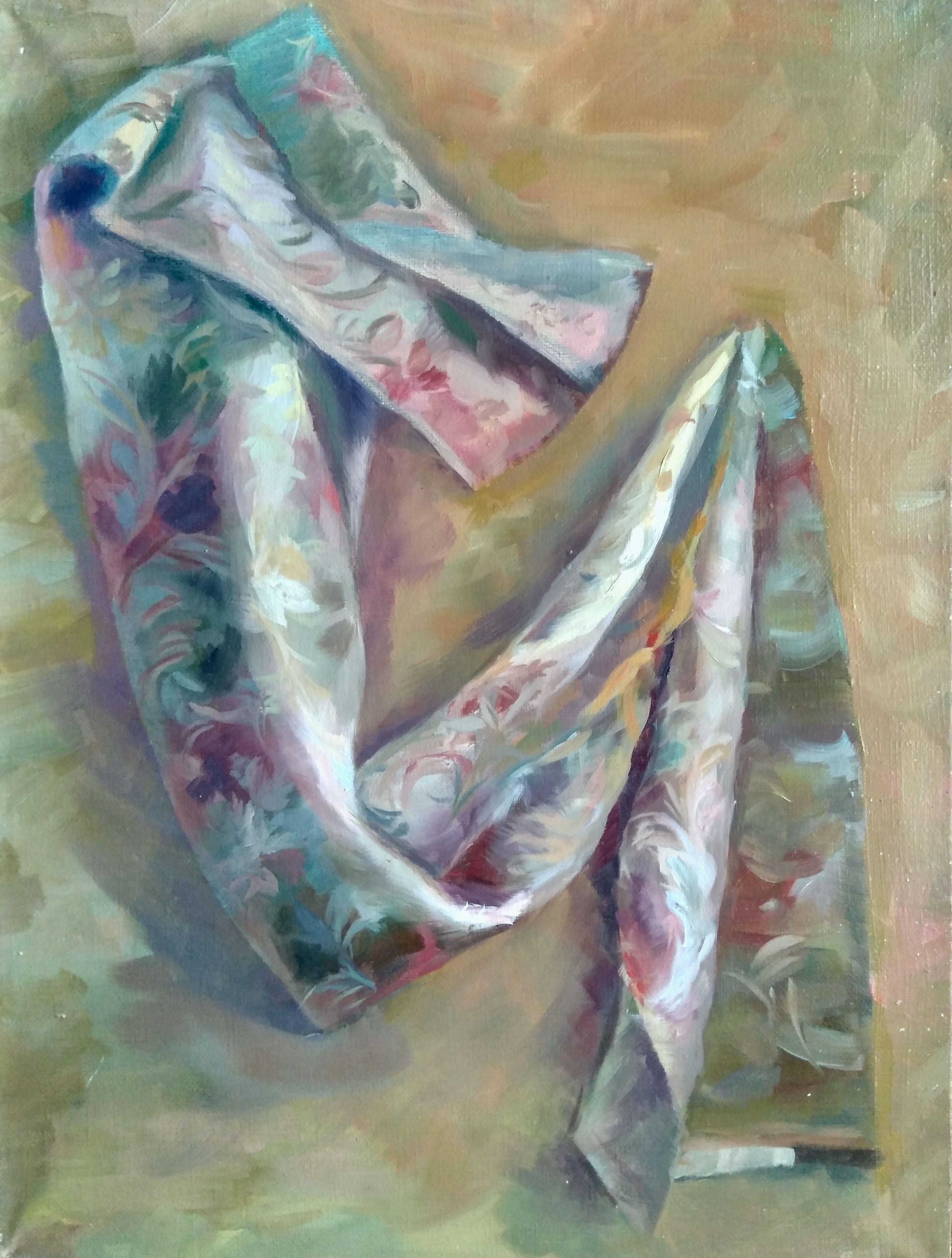 холстнаподрамнике драпировка льняной картина ткань живопись тепло красота хаки холст