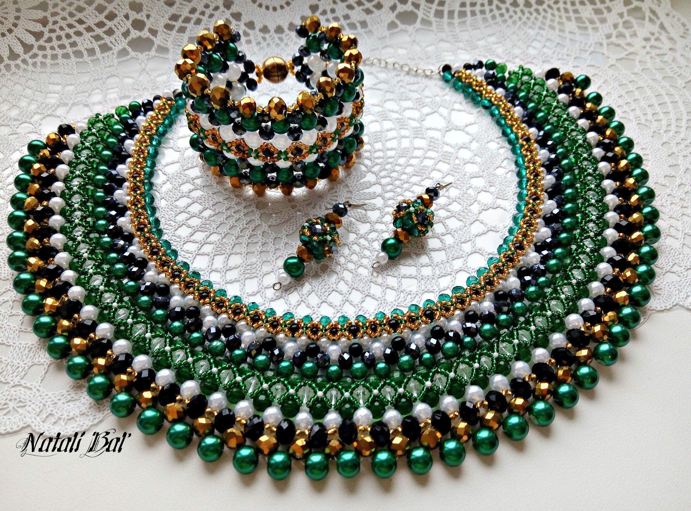 ручнаяработа браслет серьги бисероплетение handmade jewelry красотакоторуюможноносить воротничок своимируками